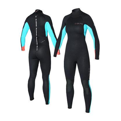 C-SKINS Surflite Ladies Wetsuit Steamer 3-2mm LS Back Zip