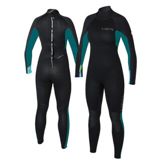 C-SKINS Surflite Ladies Wetsuit Steamer 4-3mm LS Back Zip