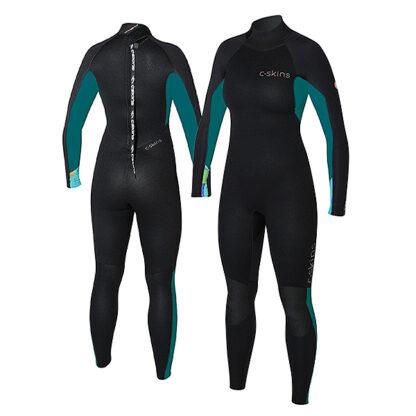 C-SKINS Surflite Ladies Wetsuit Steamer 4-3mm LS Back Zip