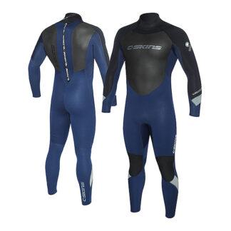 C-SKINS Surflite Mens Wetsuit Steamer 4-3mm LS Back Zip