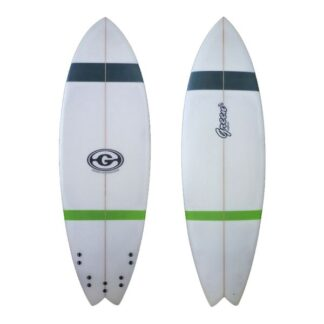 Green Surfboard Fish Grey Green