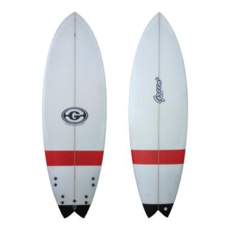 Green Surfboard Fish Red Black