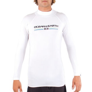 Ocean & Earth Script Mens Rash Vest LS