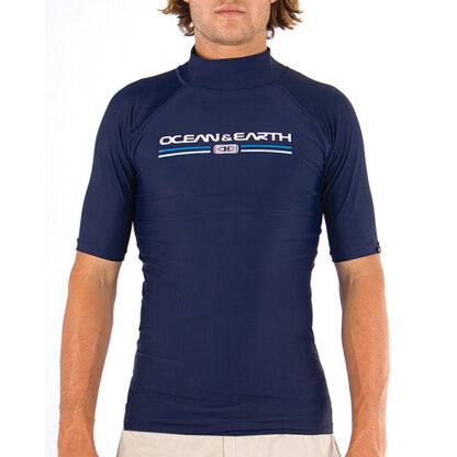 Ocean & Earth Script Boys Rash Vest SS