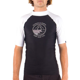 Ocean & Earth Slash Mens Rash Vest SS