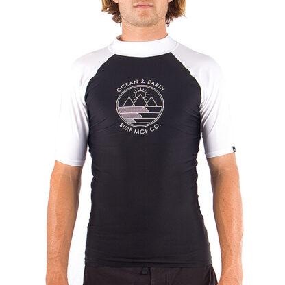 Ocean & Earth Slash Mens Rash Vest SS