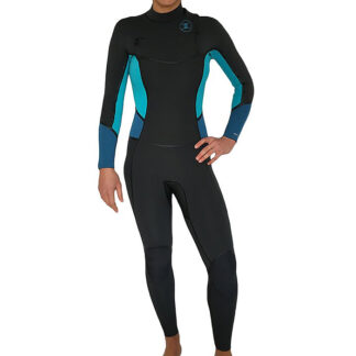 Reeflex Lilly Ocean Ladies Wetsuit Steamer 4-3mm. Chest zip. Super sealed, plush lining, extra warm. Check our range of Ladies wetsuits Online NOW!