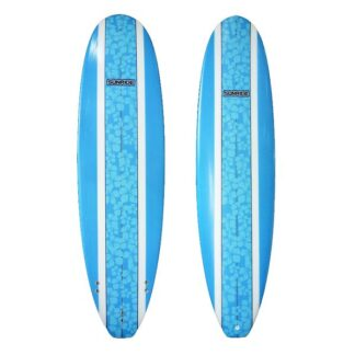 Sunride Surfboard Mal Blue Floral Inlay