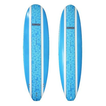 Sunride Surfboard Mal Blue Floral Inlay
