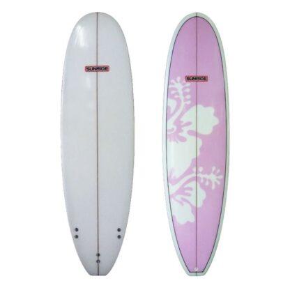 Sunride Surfboard Mal Pink Hibiscus