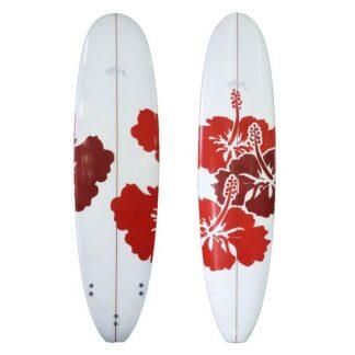 Sunride Surfboard Mal Red Hibiscus