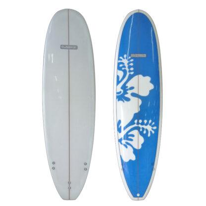 Sunride Surfboard Mal Blue Hibiscus
