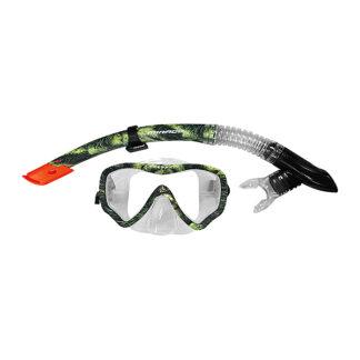 Mirage Eco Print Mask Snorkel Set