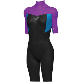 Mirage Girls Short Sleeve Springsuit Wetsuit Purple
