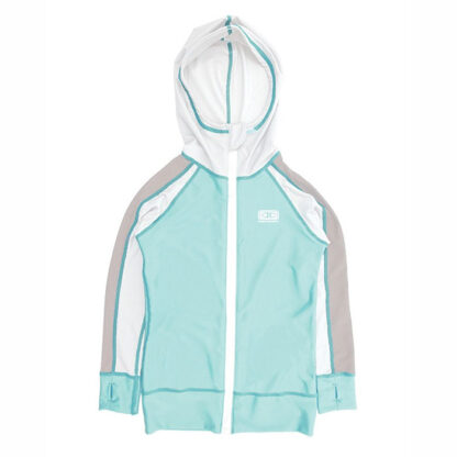 Ocean & Earth Toddler LS Zip Front Hoodie Sun Suit Mint