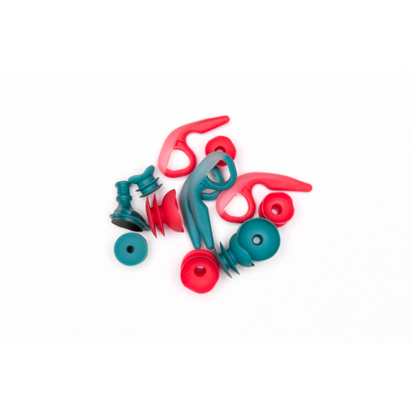 SurfEars 3.0 Surf Ear Plugs Red Teal One Size Fits Most