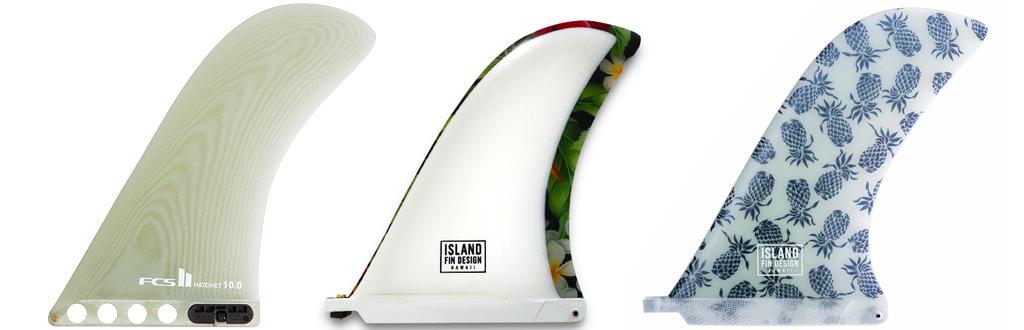 Choosing Longboard Fins Hatchet Nose Riding Fins