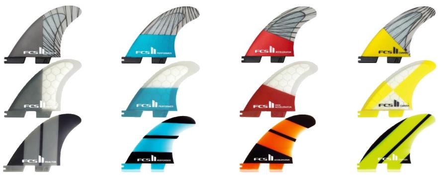 Choosing Surfboard Fins FCS II Essential Fin Range