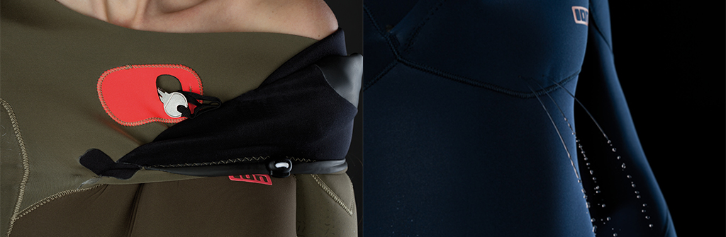 ION Wetsuits Key Pocket Drain Holes