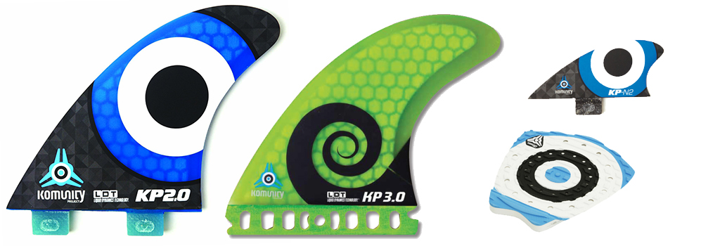 Komunity Project KP 2.0 KP 3.0 Fins Bullseye Pad Nubster Kelly Slater