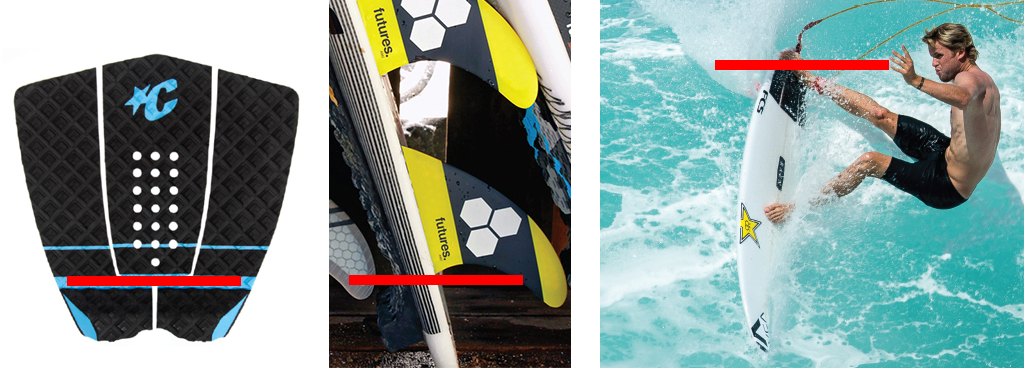 Surfboard Traction Grip Slot Sweet Spot Alignment