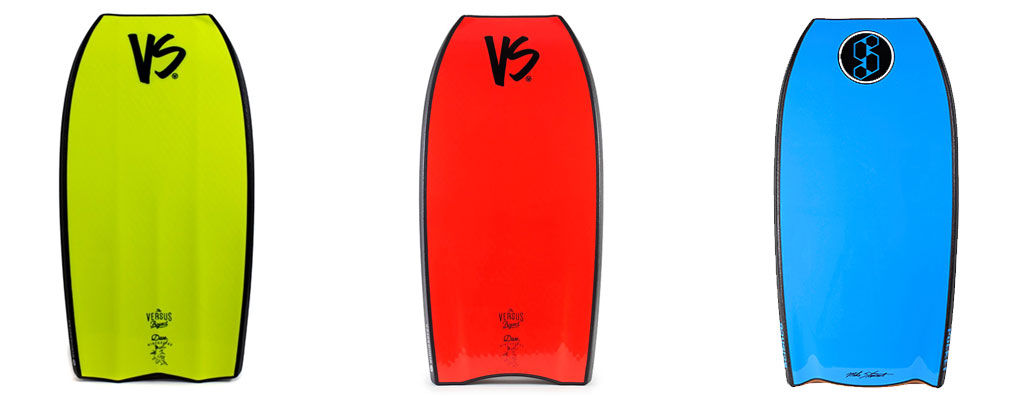 VS Bodyboards Wi-Fly Tail Comparison Crescent Tail Bat Tail