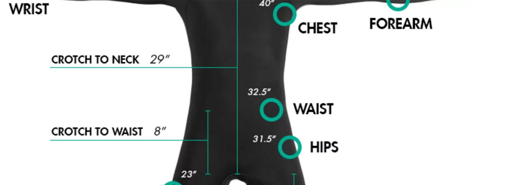A Winter Wetsuit Body Measurements