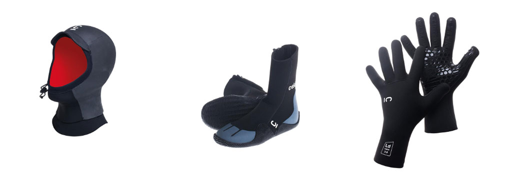 A Winter Wetsuit C-Skins Accessories Hood Booties Gloves