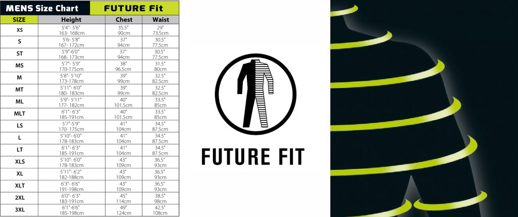 A Winter Wetsuit C-Skins Sizing Chart Future Fit