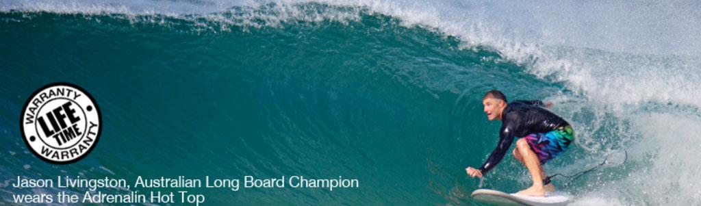 Adrenalin Wetsuits Jason Lilvingstone Australian Longboard Champion