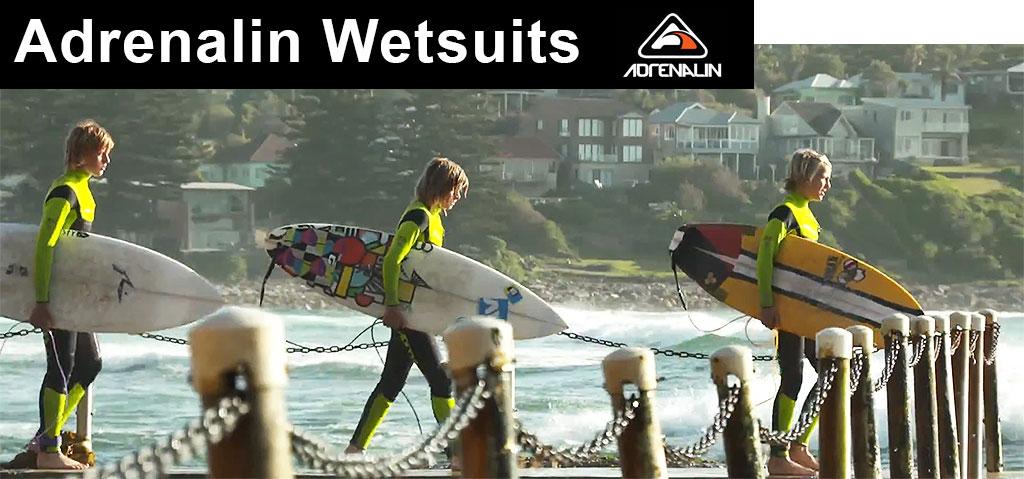 Adrenalin Wetsuits Kids Surfing