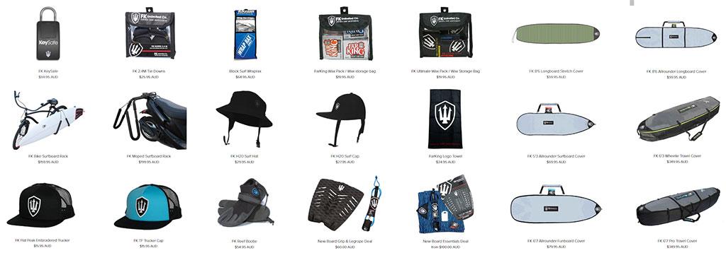 FK Surf Accessories Surf Essentials Range