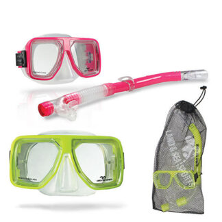 Land & Sea Bermuda Mask Snorkel Mesh Bag Set