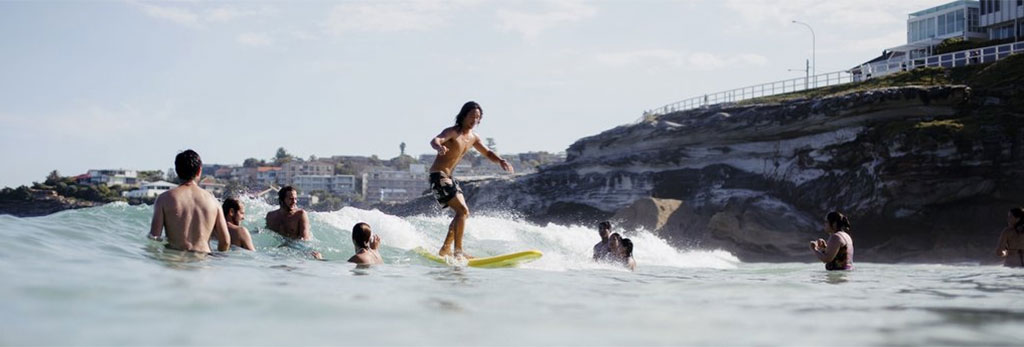 Softlite Softboards Surfing Amongst Swimmers