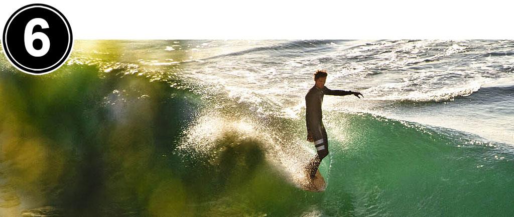 Surfing Longboard Hang Five