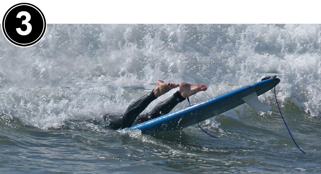 Surfing Longboard Duck Dive