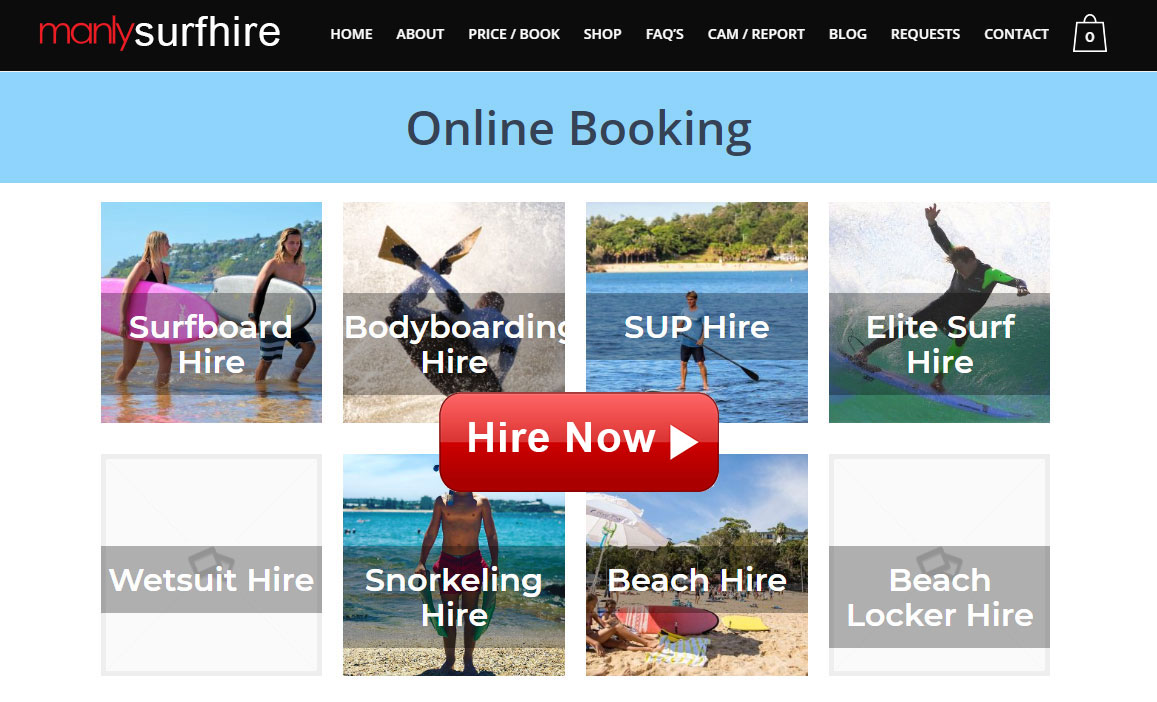Surfing Manly Surf Hire Hire Now