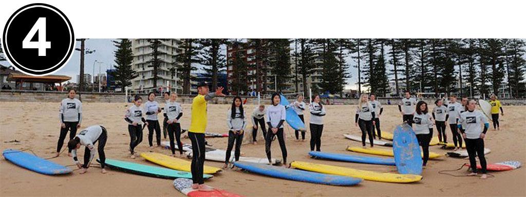 Surfing Surf School Learning