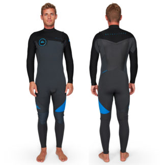 Quiksilver Mens Syncro Series 3-2mm Chest Zip GBS Steamer Wetsuits