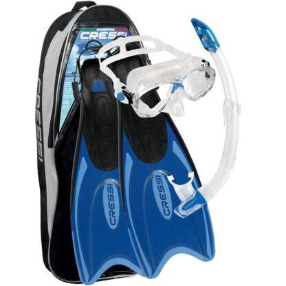 Cressi Palau Marea Mask Snorkel Flipper Set