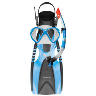 Mirage Adult Fusion Mask Snorkel and Flipper Set