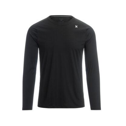 Hurley Long Sleeve Tee Shirt Rashvest Black