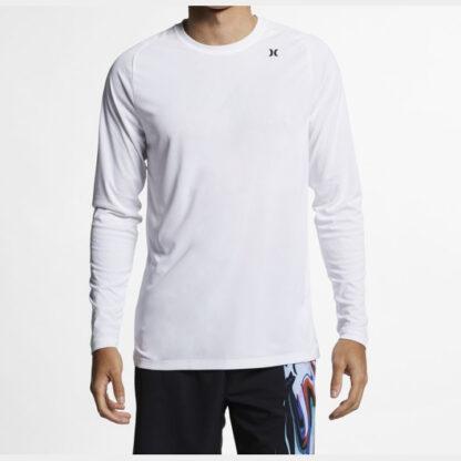 Hurley Long Sleeve Tee Shirt Rashvest White