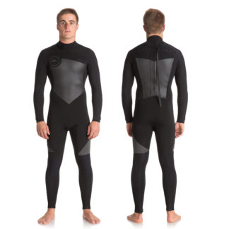 Quiksilver Mens Syncro Series 3-2mm Back Zip GBS Steamer Wetsuits