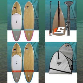 ECS Inception SUP Stand Up Paddle Board Wood