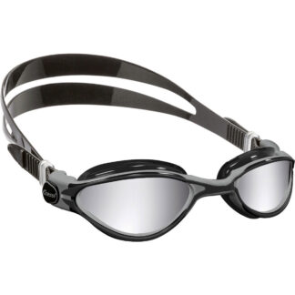 Cressi Adult Thunder Premium Silicon Goggles Black Silver Mirrored Lens