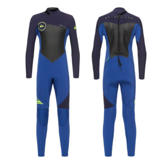 Quiksilver Boys Syncro Series 3-2mm Back Zip GBS Steamer Wetsuit