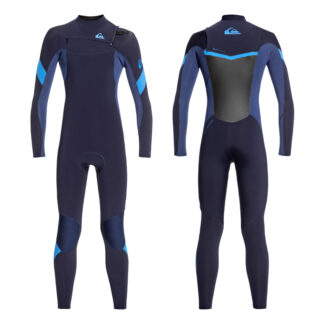 Quiksilver Boys Syncro Series 3-2mm Chest Zip GBS Steamer Wetsuit
