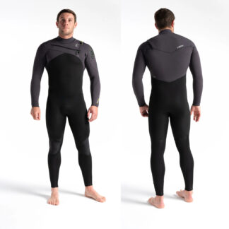 C-SKINS Mens ReWired 4-3mm Long Sleeve Chest Zip Wetsuit