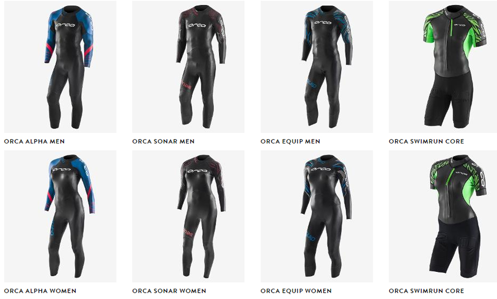 Orca High Performance Swim Gear Wetsuit Range